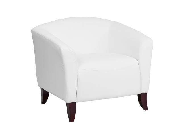 Hercules Imperial Series White Leather Chair Newegg Com