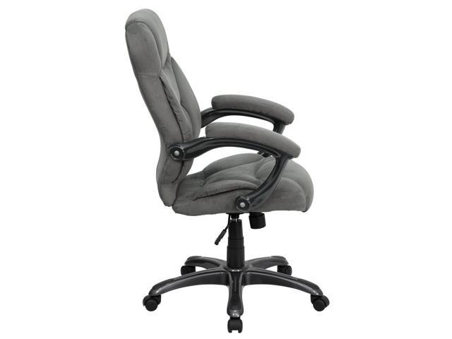 Flash Furniture High Back Gray Microfiber Upholstered Contemporary Office Chair [GO-725-GY  sc 1 st  Newegg.com & Flash Furniture High Back Gray Microfiber Upholstered Contemporary ...