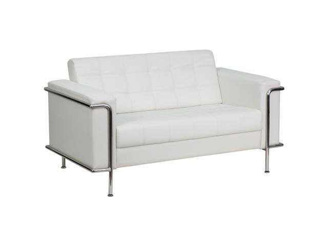 Fantastic Flash Furniture Hercules Lesley Series Contemporary White Leather Love Seat With Encasing Frame Zb Lesley 8090 Ls Wh Gg Newegg Com Pabps2019 Chair Design Images Pabps2019Com