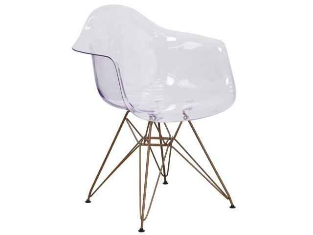 Swell Alonza Series Transparent Side Chair With Gold Base Ibusinesslaw Wood Chair Design Ideas Ibusinesslaworg