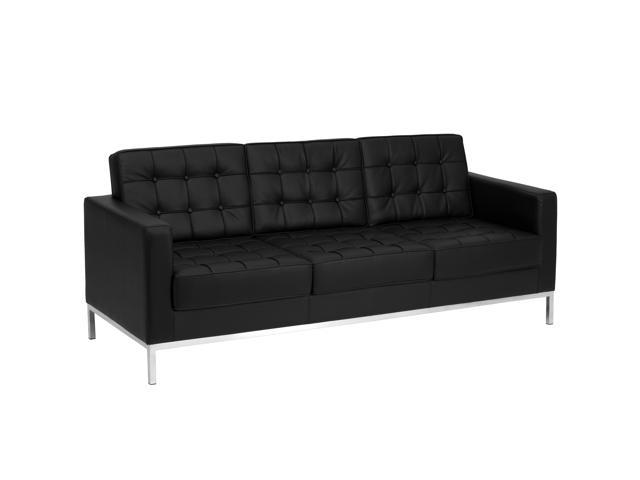 Groovy Hercules Lacey Series Contemporary Black Leather Sofa With Stainless Steel Frame Newegg Com Gmtry Best Dining Table And Chair Ideas Images Gmtryco
