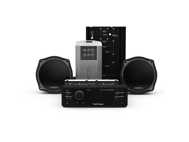 Rockford Fosgate HD9813SG-STAGE2 Source unit, two speakers & amplifier  audio kit - Newegg com