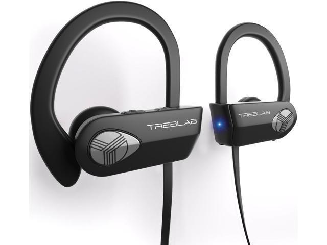 Treblab Xr500 Ultimate Cordless Bluetooth Running Headphones Best Sport Wireless Earbuds For Gym Noise Canceling Secure Fit Ipx7 Wireless Waterproof Headphones Mic Workout Earphones 2019 Upgrade Newegg Com