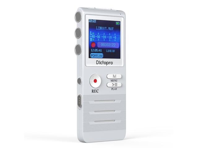 Digital Voice Activated Recorder by Dictopro- Easy HD Recording Of Lectures And Meetings With Double