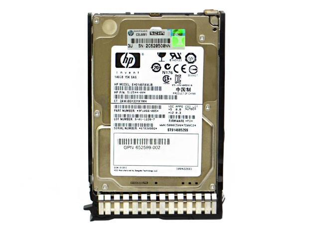 "HP EH0146FAWJB 146GB Internal 15000RPM 2.5/"" HDD 512544-004"