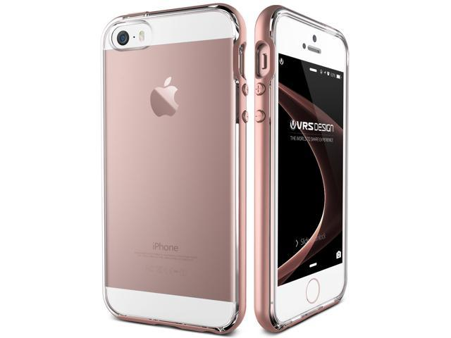 huge discount 6f67b 4f937 VRS Design [Crystal Bumper] Clear Transparent Bumper Case for iPhone 5/ 5s/  SE - Rose Gold - Newegg.com