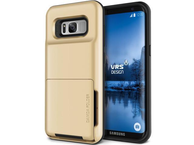 low priced 4556b 4e615 VRS Design [Damda Folder] Wallet Card Holder Case for Galaxy S8 Plus -  Shine Gold - Newegg.com