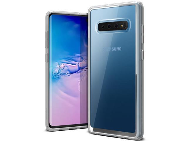 official photos aed6f e6385 Galaxy S10 Plus Case VRS Design Anti-Yellowing Crystal Clear Slim Soft  Protective Reinforced Corners [Crystal Chrome] [Transparent] Acryl Back  Cover ...