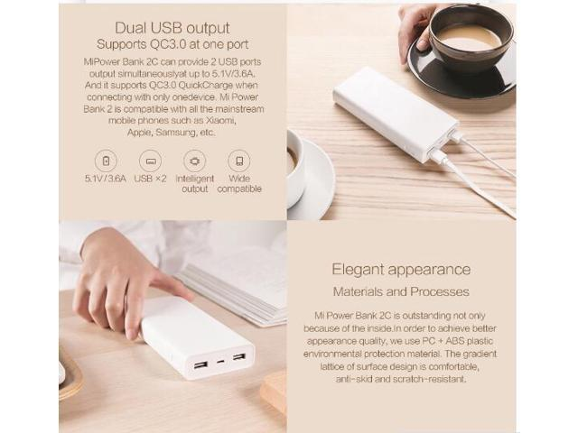 Original Xiaomi Power Bank QC3 0 Powerbank 20000 mAh Power Bank Portable  Charger Dual USB Quick Charge For iPhone Sumsung - Newegg ca