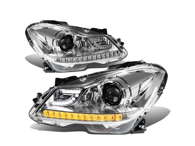 For 2012 to 2015 Mercedes -Benz C -Class W204 3D LED Halo Projector  Headlight Chrome Housing Headlamp 13 14 13 14 Left+Right - Newegg com