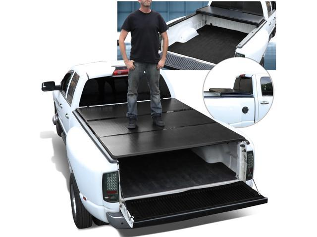 For 1999 To 2018 Ford Super Duty 6 5ft Short Bed Aluminum Frame Hard Tri Fold Tonneau Cover 17 16 15 14 13 12 11 10 09 08 Newegg Com