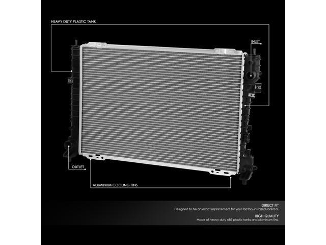 Fit 08-12 Ford Escape//Mazda Tribute 3.0L AT OE Style Aluminum Radiator DPI 13041