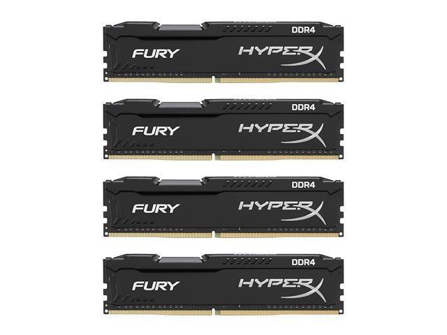 HyperX FURY 64GB (4 x 16GB) 288-Pin DDR4 SDRAM DDR4 2933 (PC4 23400)  Desktop Memory Model HX429C17FBK4/64 - Newegg com
