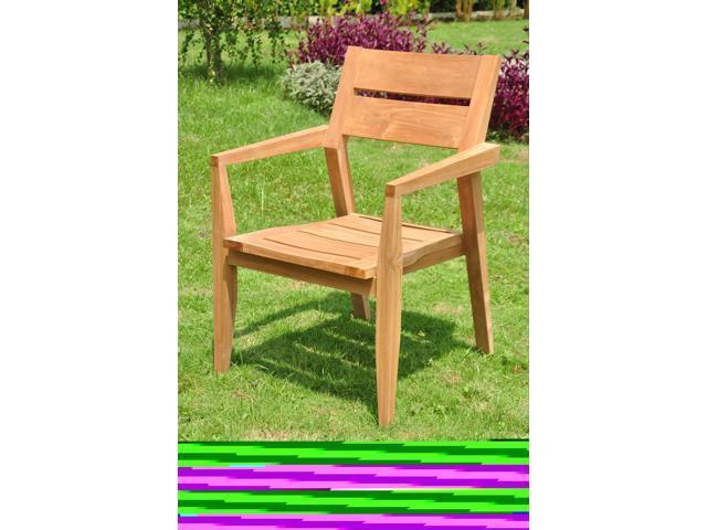 WholesaleTeak Add-on Item: Vellore Stacking Arm / Captain Grade-A Teak Wood  Luxurious Dining Chair #NEDCARVL - Newegg com