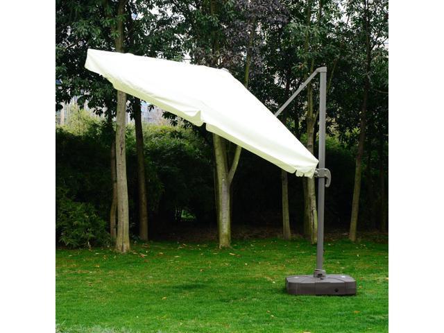 3d93128ed9 Outsunny 10'x10' Square Offset Tilt Patio Umbrella Garden Parasol Outdoor  Sun Shade Canopy with Stand, Cream White - Newegg.ca