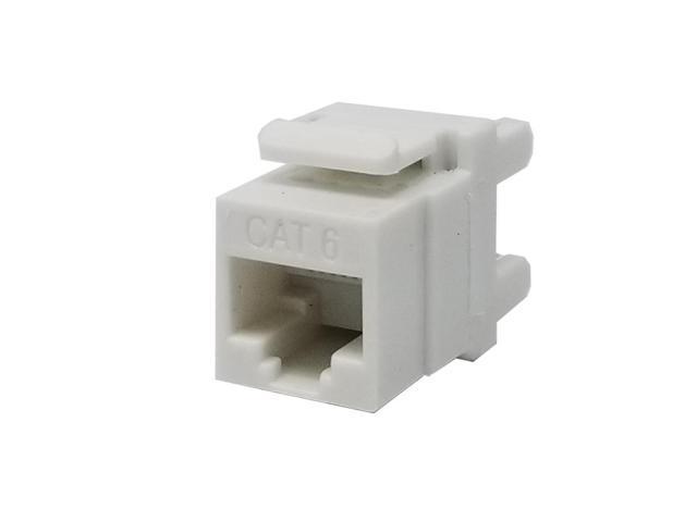 10 pack lot Keystone Jack Cat5e White Network Ethernet 110 Punchdown 8P8C