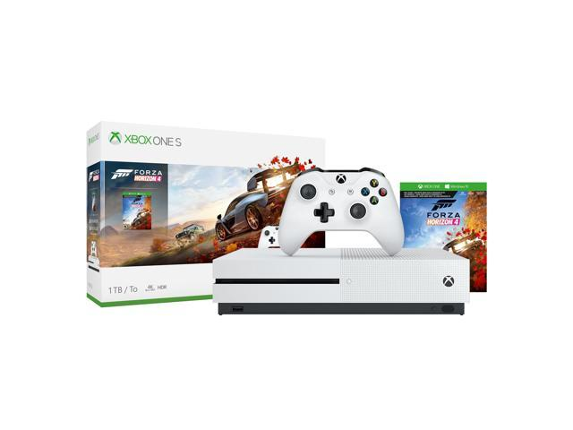 Microsoft Xbox One S 1TB Forza Horizon 4 Console Bundle - Full-game  download of Forza Horizon 4 - Wireless controller & Xbox One S included - 1  month