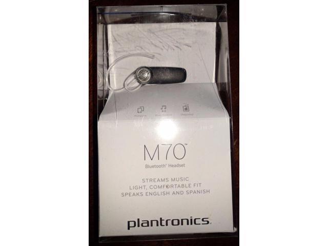 Plantronics Plm70 20073901 Bluetooth Headset New Pl M70 Newegg Com