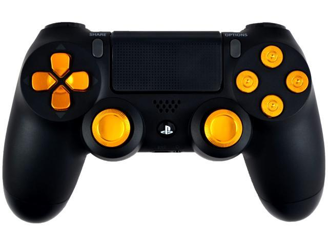 Gold Out 9MM Master Modded PS4 Controller w/ All Metal Bullet Buttons -  Rapid Fire / Jitter / Auto Aim / Burst / Sniper Breath / Quickscope /  Akimbo /