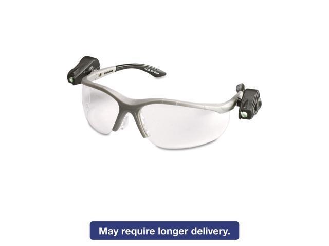 e624cdd087 3M LightVision-gafas de seguridad c/luces LED transparentes con lente  AntiFog, armazón gris-Newegg.com