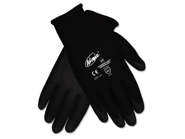 Ninja Hpt Pvc Coated Nylon Gloves, Medium, Black, Pair