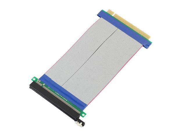 PCI E1X to 16X Express Slot Riser Cards Extender Extension Ribbon Flexible Cable