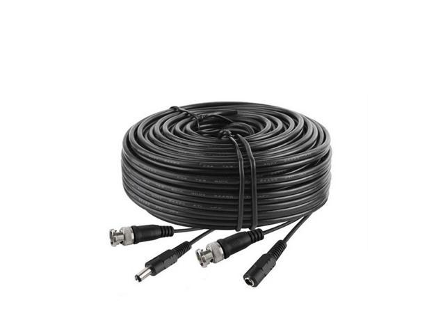 300ft Power Video Security Camera BNC Cable CCTV DVR Wire Cord 300 feet White