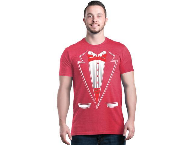 951fede8 Shop4Ever Men's Classic Red Bow Tie Tuxedo Suit Party Costume Heather  Graphic T-shirt XX