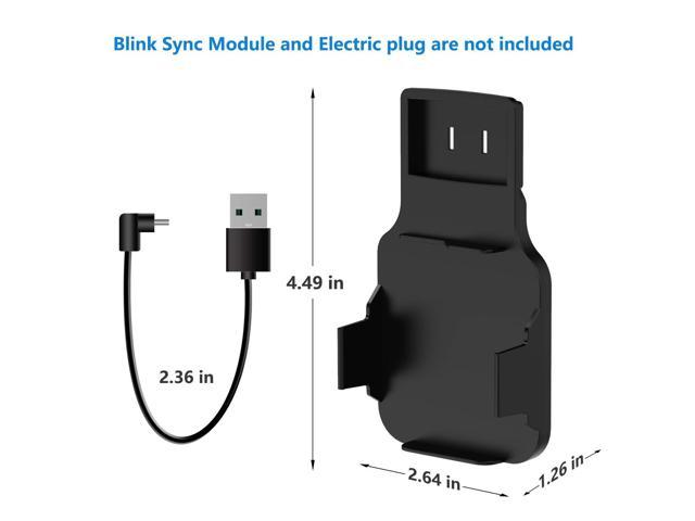 Outlet Wall Mount for Blink Sync Module, Kasmotion Hanger Bracket Holder  for Blink XT Outdoor and Indoor Security Camera Black or White WiFi Hub, No