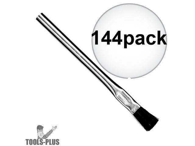 sait 00501 3  8 u0026quot  acid brush metal handle flux  hobby  pro 144-pack