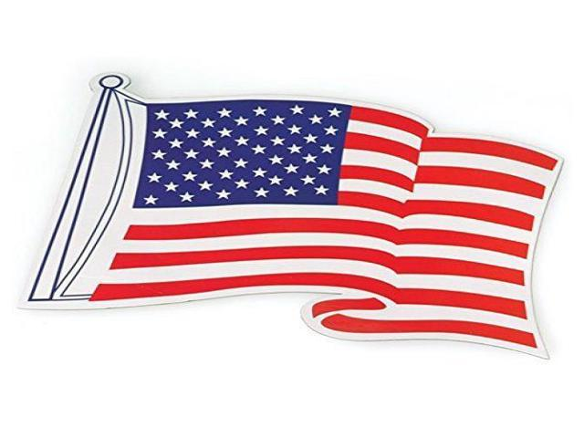 USA United States of America Flag Magnet White and Blue Large Size! Red