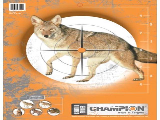 de 5 animaux 10-PK. CHAMPION 45781 CRITTER SERIES Cible Papier 2EA