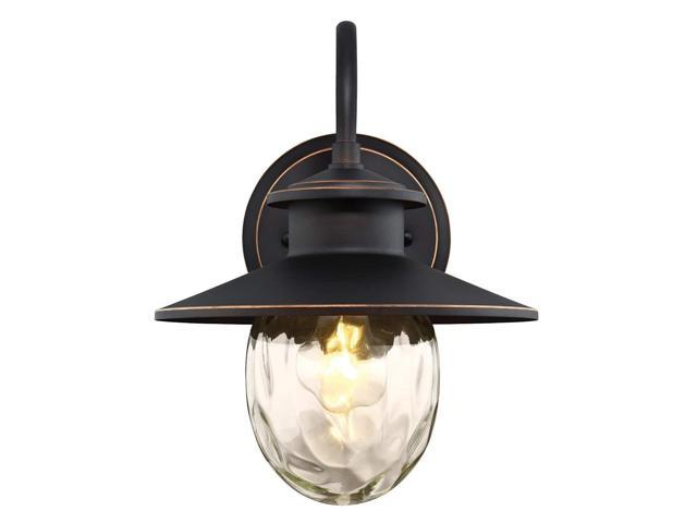 Oil Rubbed Westinghouse Lighting 6313100 Delmont One-Light Outdoor Wall Fixture