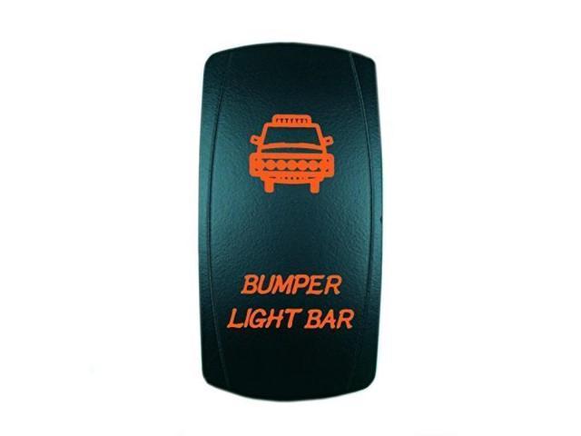 STVMotorsports Laser Backlit Orange Rocker Switch Horn 20A 12V On//Off LED Light