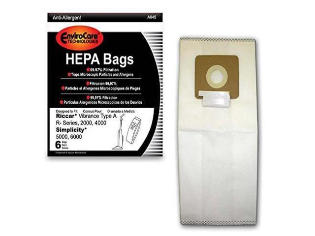 6000 Uprights Type A 6 Vacuum Bags /& 2 Belts for Simplicity 5000