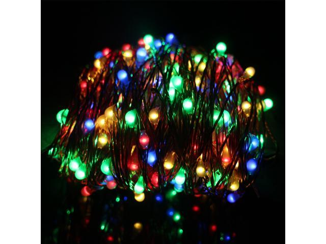 new product fae54 2a22f Er Chen 30m 300 LED Outdoor Christmas Fairy Lights Warm White Copper Wire  LED String Lights Starry Light+US Power Adapter(Multicolor) - Newegg.com