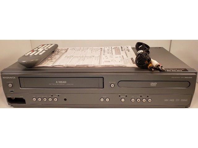 Refurbished: Magnavox MWD2206 DVD VCR Combo Player 4 Head VCR Player -  Newegg com