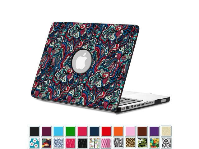 on sale d71b0 4d7d8 Fintie MacBook Pro 13 Case (Non-Retina) with PU Leather Coated Plastic Hard  Cover Snap On Cover, Mushroom Fantasy - Newegg.com