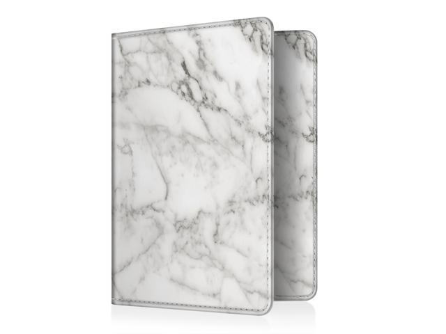 marble Passport Holder Wallet Holder RFID Blocking Vegan Leather Card Case Cover
