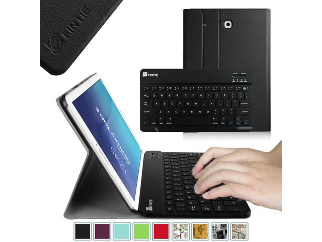 brand new d2e6e 65557 Fintie Case for Samsung Galaxy Tab E 9.6 Tablet - Smart Slim Shell Cover  with Removable Bluetooth Keyboard, Black - Newegg.com