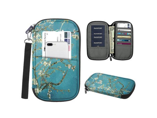 Lamdoo RFID Blocking Leather Passport Holder Protector Case Cover Wallet Organizer for Women Men Travel/—Purple