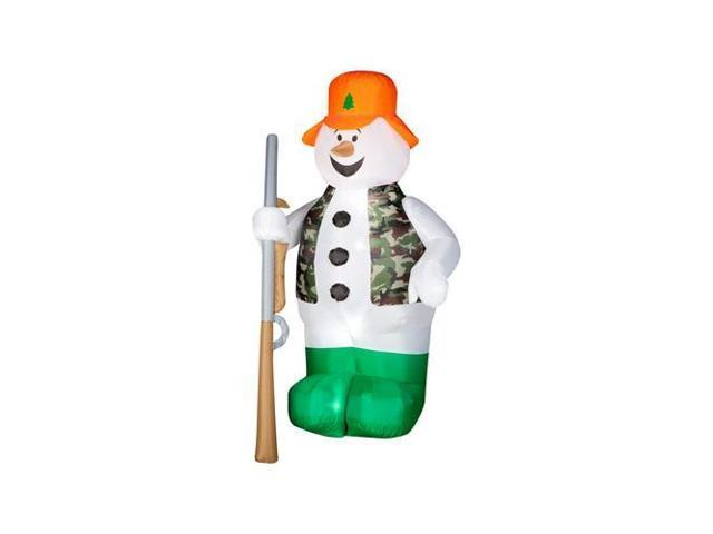 Gemmy Industries 86231 Christmas Decoration, Lighted Inflatable Hunting  Snowman, 6-Ft  - Quantity 1 - Newegg com