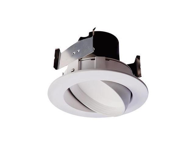 Cooper Lighting Ra406930whr Led Retrofit Trim Gimbal White 10 Watt 4 In Quany 1 Newegg