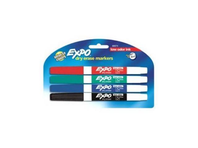 Sanford 86674k 4 Pack Expo Low Odor Fine Point Dry Erase Markers Quantity 6 Newegg Com