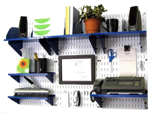 wall mounted office shelves organizer