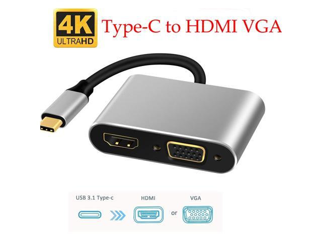 USB-C Type-c Thunderbolt 3 to HDMI 4K VGA DVI 1080P Cable Adapter for Macbook