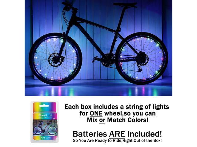 LED Bike Spoke Lights Waterproof Cool Bicycle Wheel Light Safety Tire Lights