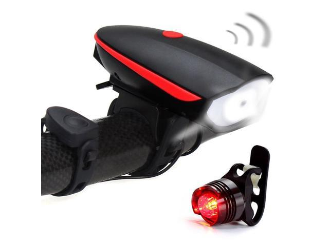 Bicycle Bike Horn Headlights Light Waterproof Safety Bell Multi-function Bright*