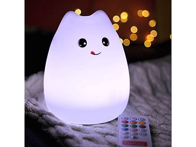 Night Light Led Silicone Cute Cat Kitty