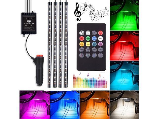 "Color Changing  Strip 4pc 36/"" Strip 4pc 10/"" Strip Boat LED Neon Lighting Kit"